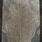 Blessure 01 (détail), encre, aquarelle, gravure sur fibrociment, 2017