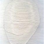 Mutisme 2h57, 2018, couture et encre sur papier Stonehenge, 57 cm x 38 cm (22,5'' x 15'')