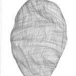 Sans titre (tissage du temps) 02, 2018, encre et graphite sur papier, 70 cm x 45 cm