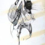 Vanité 03, 2006, fusain, encre de chine, mine de plomb, acrylique spray sur papier, 48,5 x 64,6 cm