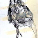 Vanité 05, 2006, fusain, encre de chine, mine de plomb, acrylique spray sur papier, 64,6 x 48,5 cm