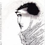 À toi (extrait des Fleurs du mal- C. Baudelaire; le voyage), 2015 encre sur papier coton