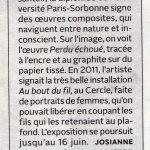 Article Le Soleil, Josiane Desloges, 2015-02