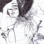 4. Illustration, 2015,  impression, encre, pastel et graphite sur papier, 8,5'' x 11'' Oeuvre originale disponible à la vente Reproductions numérotées disponibles