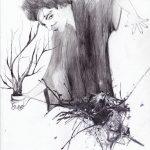 5. Illustration, 2015,  impression, encre, pastel et graphite sur papier, 8,5'' x 11'' Oeuvre originale disponible à la vente Reproductions numérotées disponibles