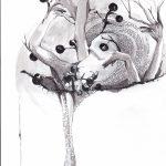 1. Illustration, 2015, impression, encre, pastel et graphite sur papier, 8,5'' x 11'' Collection privée Reproductions numérotées disponibles